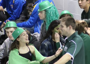 East Brunswick Swim Team showing spirit before the big tournament