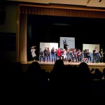 "Churchill cast and crew dance it up at the end of ""Death Jam Comedy Festival"""